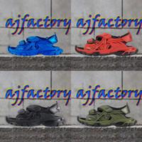 2021 Designer Sandales de piste Fashion Casual Chaussures Chaussons Diapositive Green Blue Shoe Mens Homme Femmes Femmes Femmes Femmes De Bas Plage avec Boîte