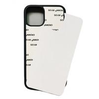 Boş 2D Süblimasyon TPU PC Telefon Kılıfı Için iPhone 12 Mini 11 Pro x XS Max XR 7 8 6 Artı SE Alüminyum Ekler DHL ile DHL