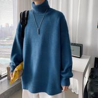 Мужская зимняя мода кашемировые свитера случайные сплошные цветные шерстяные водолазки одежды Homme Pullover с длинными рукавами M-2XL