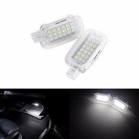 Angrong 2pcs 화이트 캔버스 LED 예의 문, 글러브 박스, W204 용 트렁크 라이트 4D W216 / W217 (CA200) 1