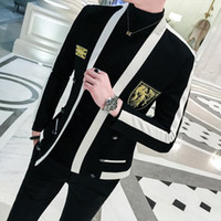 Gold Embroidered Blazer Hombre Men' s Slim High Quality ...