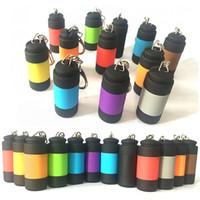 Портативный мини-фонарик USB аккумуляторный брелок LED небольшой фонарик сильный свет водонепроницаемый путешествия электрический факел DHL бесплатная доставка