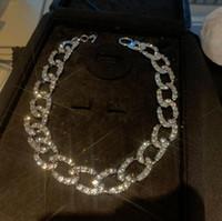Cadena de diamante completa de alta calidad para mujer Collar grueso brillante brillante Diamante Collar para amigos Regalos Joyería Ropa Accesorios
