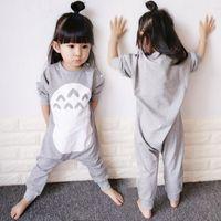 Garçons filles robe vêtements de nuit bébés bébés japonais totoro kid pijama unicornio vêtements de couchage unicorn onesie pour enfants dormeurs bébé 201104