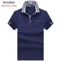 Polos de los hombres Shabiqi Big Man Hombres Camisa de manga corta para hombre Camisas sólidas Camisa S Masculina Casual Algodón Plus Tamaño 6XL 7XL 8XL 10XL1