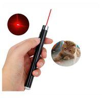 빨간색 레이저 포인터 펜 미니 라운드 달 모양 손전등 초점 토치 램프 손전등 고양이 chase 기차 Qylick에 대 한 레이저 펜