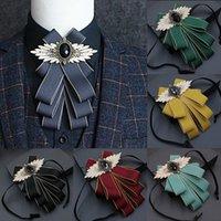 Kragen Herrenkleid Anzug Blume Fliege Hemd Bräutigam Groomsman Host Männliche Hochzeit Partei Zeremonie Zubehör Multi-Layer Cravat