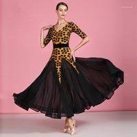 Стадия носить женщину бальный танец костюм женское вальс платье стандартные мяч костюмы танго румба форменные бархаты полноблокируют 18781