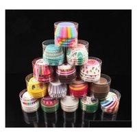 20000pcs 판매 머핀 종이 컵 케 잌은 래퍼 베이킹 컵 케이스 머핀 상자 케이크 컵 장식 도구 주방 케이크 도구 H8FTN