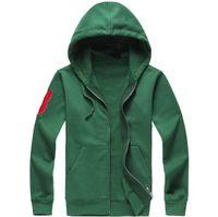 ralph lauren Habi à hoodies et sweatshirts de Polo Hommes Automne Hiver Casual avec une hotte Sport Veste Zipper Casual Hommes Meilleure Qualité Livraison gratuite