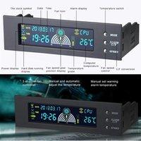 팬 냉각 5.25 인치 베이 프론트 LCD 패널 디스플레이 3 팬 속도 컨트롤러 CPU 온도 센서 프로브 5 - 90 Celsius Degree1