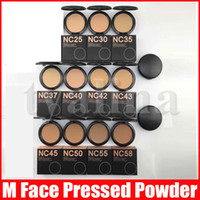 M Face Makeup NC 11 Color Pressed Powders Puffs Foundation 15g Matte Natural Facial Powder