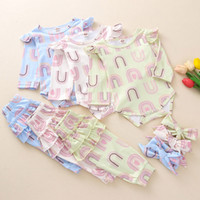Baby Girls Cartoon Outfits Ruffle Long Sleeve Rompers Girls ...