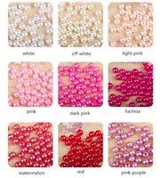 1bag / 0.5kg 4/5/6/8 / 10 / 12mm Perlas de imitación redondas 26 colores Holidos rectos perlas DIY Joyas Pendientes Pulseras Hallazgos Hallazgos Accesorios de boda