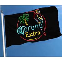 Corona Extra bandeira de cerveja Deluxe bandeira de festa engraçada com bronze ilhós 3x5 ft, casa ao ar livre casa bandeira poliéster jardim gramado decoração ao ar livre