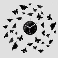 Neue Förderung Echt Rushed Spiegel DIY Wanduhr Wohnzimmer Quarz Acryl Pastorale Moderne DIY Uhr Uhr Uhren1