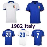 1982 Italia Retro Fútbol Jersey 82 Rossi Tardelli Scirea Graziani Zoff Vintage Classic Football Shirt