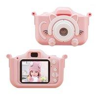 Jozuze Caméra pour enfants Mignon jouet Cat Mini caméra numérique Caméra IPS Screen Education Jouets pour enfants pour enfants cadeau d'anniversaire1