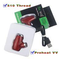 Batterie à huile Smart Vape Pen Smart Batterie réglable 900mAh Préchauffage VV Vairable Tension 510 Fil E Tuyau E Pipe Vapeur de vapeur Mod