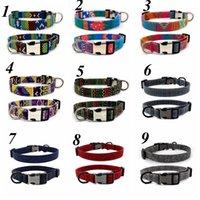 Colares Colares Personalizados Pet Dog Tag Collar Customizável Puppy Nome Placa Ajustável ID Colares Animais de Estimação Acessórios 31 Designs LLS47