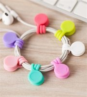 Data Line Fixedclip Multifunction Silicone Mobile Phone Magnet Headset Style Magnetic Attraction Bobbin Winder Cordclip New Arrival 1sl M2