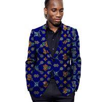 Homens Blazer Dashiki Imprimir Casaco Personalizado para Partido Africano / Casamento Ankara Casaco Slim Fit Fit Formal