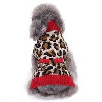 Autunno inverno Leopard Pattern Dog Caldo Maglione Caldo Pet Turtleneck Maglioni Maglieria Maglieria 27RF
