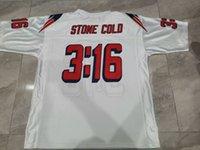 Özel Erkekler Taş Soğuk Steve Austin # 3:16 Takım Vermiş Mavi Beyaz Kolej Forması Boyutu S-5XL veya Özel Herhangi Bir Ad veya Sayı Forması