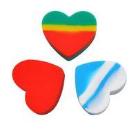 Портативный сердечный в форме сердца электронные сигареты силиконовые ювелирные изделия ящик для хранения мини-медицины домохозяйство 17мл любовь нагревает кремниевую банку
