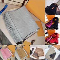 Mit Box Geschenkbeutelbeleg Tag Top Qualität Schal Herren Womens Winter Designer Schal Mode Pashmina Warm Imitieren Wolle Kaschmirschals