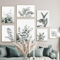Eukalyptus Gummi Grün Pflanze Blätter Kunst Leinwand Malerei Nordic Poster und Drucke Moderne Wandbilder für Wohnzimmer Dekor