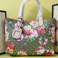المرأة أزياء حقيبة تسوق حقيبة سفر حقيبة كبيرة حزمة مزدوجة الجانب حقيبة أزياء جلد البقر جلد طبيعي المرقعة لون حمل الحقائب