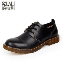 POLALI Men Leather Shoes Casual New Genuine Leather Shoes Men Oxford Fashion Lace Up Dress Shoes Outdoor Work Shoe Sapatos 201212