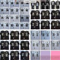NCAA Football Rétro Vintage 81 Tim Brown Lyle Alzado Jim Otto Jack Tatum Art Shell Ted Hendricks Dave Casper Woodson Jersey Hommes Noir Blanc