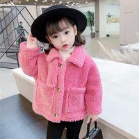 Ceketler Hylkidhuose Bebek Kız Mont 2021 Sonbahar Kış Kadın Çocuk Ceket Kalınlaşmak Sıcak Peluş Çocuklar Açık Giyim