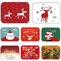 حصيرة في الممر المطبخ المطاط ممسحة مرح عيد الميلاد الغزلان ترحيب ديكور المنزل غرفة المعيشة البساط المضادة للانزلاق الغبار carpet1