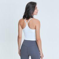 L-97 mujeres camisetas sin mangas para entrenamientos de yoga Fitness deportes camisetas Chaleco sexy Seco rápido Gimnasio Tops de gimnasio Tops U Cuello Soft New Slim Fit camiseta