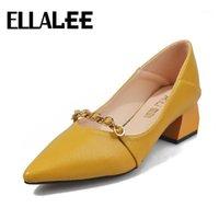 Elbise Ayakkabıları Ellalae Charm Kadınlar Bahar Yaz Eğlence Slip-On Pompalar Kauçuk Kaymaz Sivri Burun Bling Kristal Metal Tasarım Kadın ayakkabı1