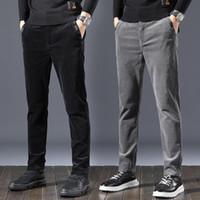 Jeans d'hommes automne Hommes de mode Hommes élastiques Slim Cotton Coton Coton Pantalon décontracté Corean Style Hip Hop Cargo Hargo Hargo pantalon