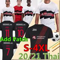 Taille S-4XL FC Midtjylland Custom Soccer Jerseys 2020 21 Noir Blanc Kaba Dreyer Sisto Mabil Sviatchenko Evander Hommes Shirt Football Fodbold