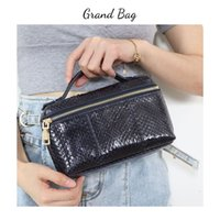 Neue Designer-Handtasche Echt Schlangen-Haut-bewegliche kleine Clutch echte Python-Leder-Damen-Handtasche Geldbeutel-Q1117