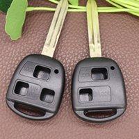 2 3 Taste Autoschlüssel Shell Fit für Toyota Prado Remote Key Ersatz Shell Toy43 Klinge