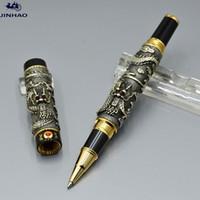 Высокое качество Jinhao Brand Pen Black Dragon Form Рельефы металлические роликовые шариковые ручки канцтовары офисные школьные принадлежности, писать гладкие подарочные ручки
