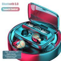 M18 TWS Bluetooth fones de ouvido sem fio fones de ouvido à prova d 'água desporto de controle de toque de controle de fone de ouvido de iluminação Case de carregamento estéreo