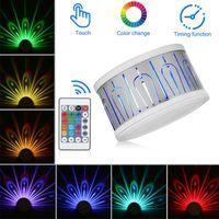 Lampe murale en spirale en spirale de paon RGB Projection de LED à l'intérieur Éclairage coloré Luminaire mural Luminaire pour Home Hotel KTV Bar # 5
