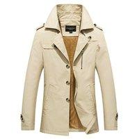 Männer Jacken 2021 Lässige Mode Winter Klassische Männer Parkas Dicke Wolle Linerjacke Warme Mäntel Winddicht Mantel Männlich Mantel
