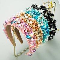 Horquillero de perla simulada a todo color barroco para mujer Accesorios para el cabello de la boda del cristal geométrico del cristal vintage