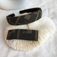 Bandeaux de concepteurs Lettre de rétro Imprimer les femmes bandeau Nouveau groupe de cheveux pour cadeau Chic Bandeaux de mode de luxe de luxe