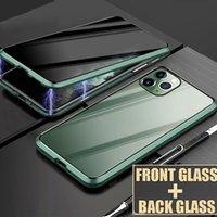 Peep-Proof Case HD Temperli Cam Mıknatıs Telefon Kılıfı Koruma Kapak Shell iPhone X 7 8 Artı 11 Pro Max XR XS Max