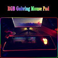 الألعاب ماوس الوسادة RGB LED متوهجة ملونة كبيرة ألعاب ماوس الفأر لوحة المفاتيح لوحة فئران عدم الانزلاق الفئران حصيرة 7 ألوان للكمبيوتر المحمول